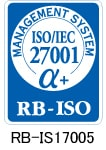 MANAGEMENT SYSTEM ISO/IEC 27001 α+ RB-ISO RB-IS17005